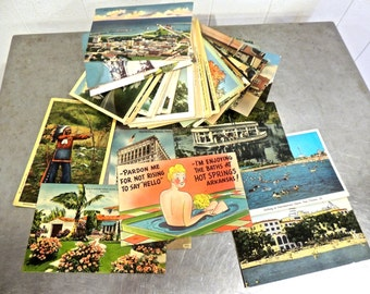 vintage postcard lot 112 total 1920s-50s all used