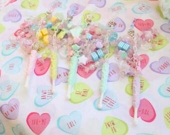 SALE Fairy Kei Rock Candy Headphone Jack  Phone Charm Pick One WAS 14.00