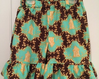 Tina Givens by Freespirit Opal Owl print ruffle shorts 6 12 18 24 2t 3t 4t 5t 6 7 8 Years