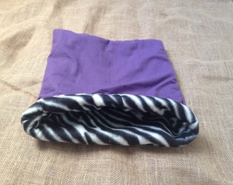 LARGE purple Zebra pouch for small pets