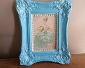 Paris Chic   Marie Antoinette Picture   Printed on Fabric  in Ceramic Hand Painted Frame