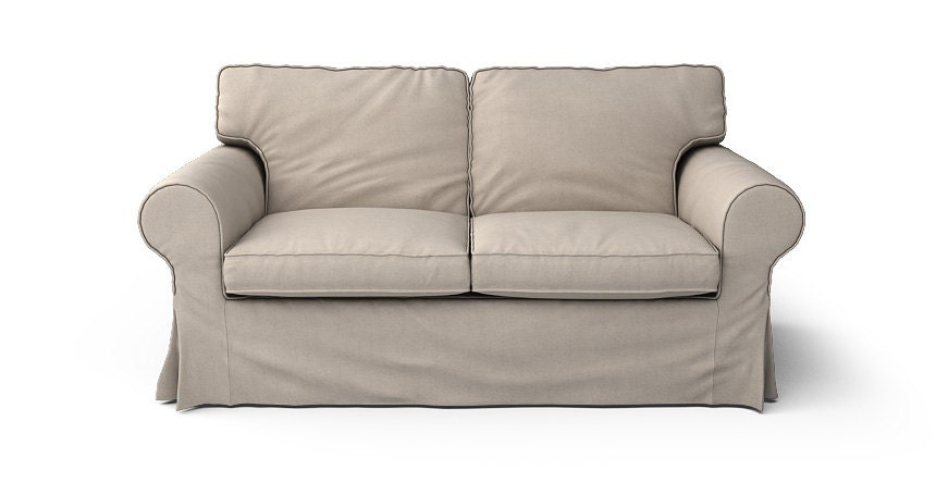 Ikea ektorp 2 seater sofa slipcover in lino by comfortworks for Ikea sofa slipcovers discontinued