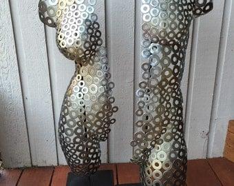 Abstract Metal art sculpture Torso Home Decor Nude by Holly Lentz