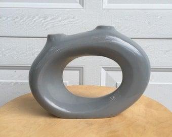 Vintage Grey TOYO Ceramic Vase.