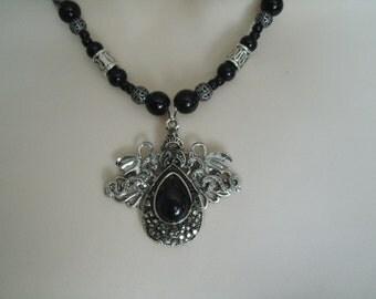 Dragon Necklace, medieval jewelry renaissance jewelry gothic jewelry fantasy jewelry victorian goth edwardian neo victorian cosplay necklace