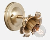 Flush Mount Bloom Wall Sconce Light Bedroom Wall Sconce Bathroom Light Fixture Industrial Lighting Hardwire or Plug In Wall Sconce Lighting