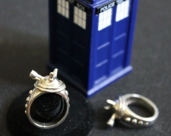 Exterminate!: sterling silver Dalek ring