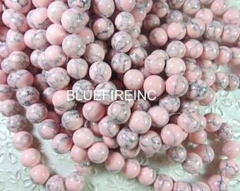 38 pcs 10mm round smooth dyed howlite beads in full strand