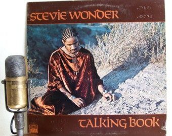 "ON SALE Stevie Wonder Vinyl Record Album 1970s Soul Funk Pop Dance ""Talking Book"" (1972 Tamla w/ ""You are the Sunshine of My LIfe"" & ""Supers"