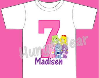 Personalized Birthday Care Bears shirt tutu outfit  (any age)