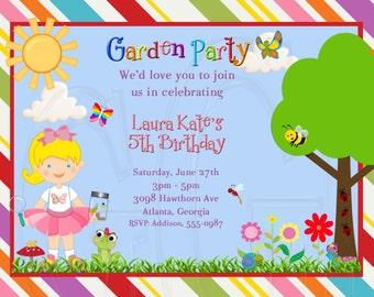 Garden Party Invitation-Digital File