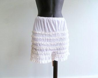 vintage 60's white petti pants // womens size xs, s