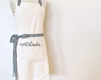 custom FULL apron : vendor aprons, custom embroidery, florist apron, event planner apron, photorapher apron, bakery apron