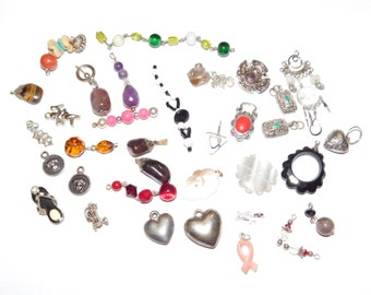 Destash Jewelry Lot vintage Charms Vintage Supplies