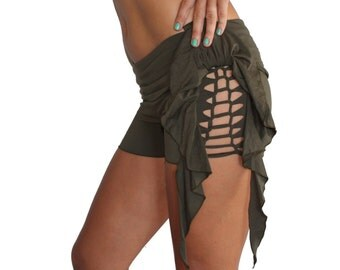 New Side Frill and Macrame Shorts