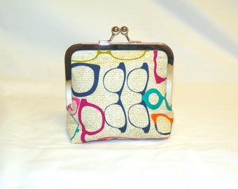 Palm Clutch in Eyeglass Print