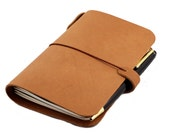 MIDORI passport size - (sm) Field Notes - Leather Cover in BBG CAMEL