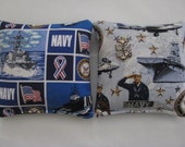 US Navy Military Cornhole Bags Corn Toss Bean Bag Baggo Set of 8