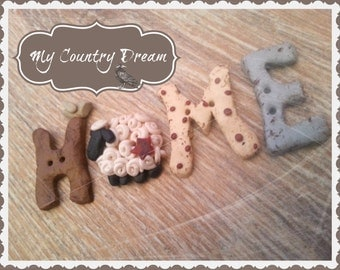 Home - Handmade buttons set - Set of 4 pcs.
