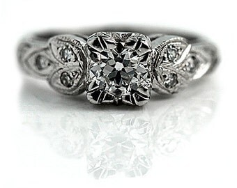 Vintage Platinum Diamond Ring .65 Carat - FOR SALE Vintage Diamond Ring