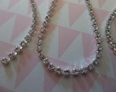 2mm Clear Rhinestone Chain - Silver Plated Setting - Crystal Clear Preciosa Czech Crystals