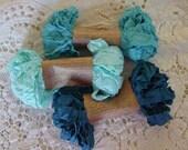 Shabby Wrinkled TIDAL WAVE ribbon bundle, 15 yards