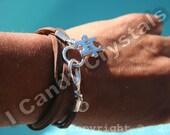 Autism Bracelet Silver Puzzle Piece Suede Bracelet