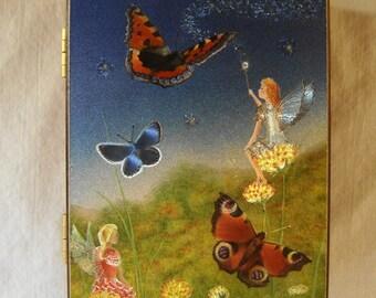 VINTAGE Fairies & Butterflies Decoupage CEDAR Box Souvenir Jewelry Box Dream Catchers Box Sweet Treasury Box