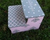 Grey Kids Step Stool Custom Pink and Gray Damask Dots Kids Furniture Bathroom Step Stool Childs Home and Living