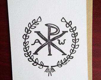 Letterpress - Wreath/Crown - Early Christian Symbol