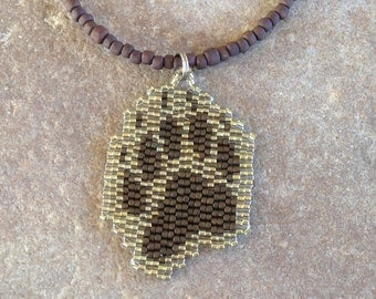 Bear Claw Beaded Necklace