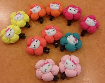 colourful hello kitty hair clip