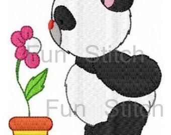 set of 10 panda machine embroidery design