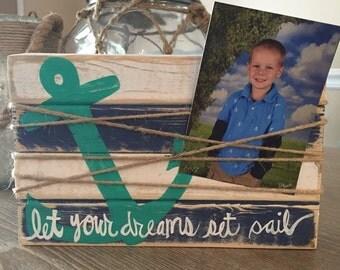 Let your dreams set sail picture frame block