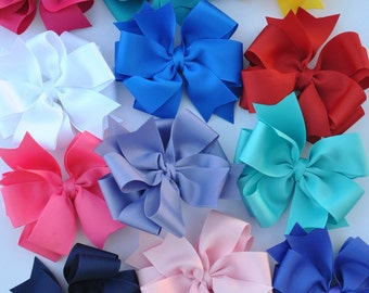 POSH Little Lady -  Double Layered Large Bows - Boutique Hairbow - Large Hairbow