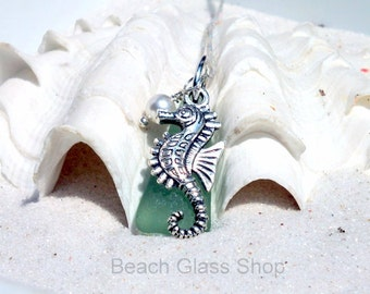 Sterling Sea Glass Necklace - Sea Glass Necklace - Mermaid Tears Jewelry - Lake Erie Beach Glass