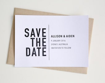 "SAVE THE DATE wedding / engagement invitations | ""Danielle Suite"""