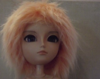 SALE Orange with white frosted tips faux fur wig for Pullip / Taeyang