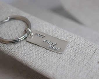 best dad ever key chain   birthday gift   sterling silver key chain   sister gift   gift for sister   just because