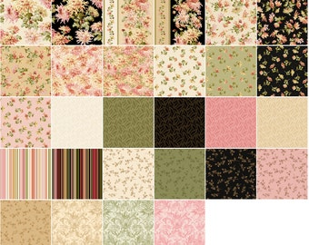 Sophia Floral Maywood Quilt Fabric Layer Cake 42 squares 10""