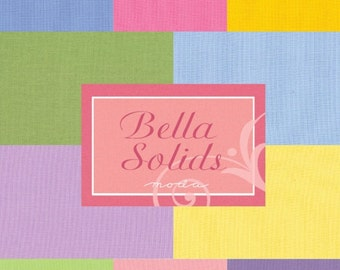 "ON SALE Bella Solids 1930s Colors  Moda Quilt Fabric Charm Pack 42 squares 5"" x 5"""