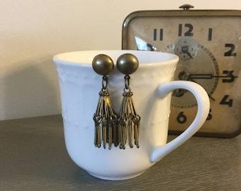 Vintage Brass Bohemian Earrings