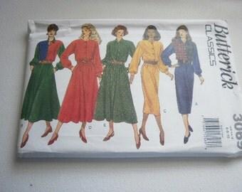Pattern Ladies Dress 5 Styles Sizes 6-8-10 Vintage Butterick 3069