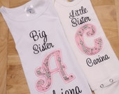 Black Eiffel Tower on Pink Background Big Sister Little Sister Sibling Set Coming Home Outfits