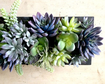 Faux succulent centerpiece, succulent plants, faux succulents, succulent wedding centerpiece, floral arrangement, silk flowers, garden, Gift