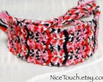 SUMMER SALE!!! Free Shipping or Save 20% ~ Minnie Mouse inspired knotted cuff friendship bracelet ~ Ready to Ship