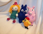 Crochet Peg cat play set