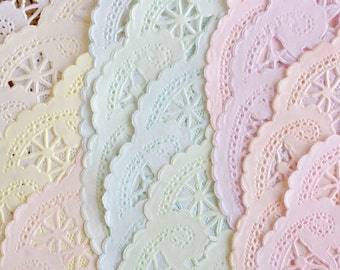 10 INCH | 50 Shabby Rustic Hand Dyed Paper Lace Doilies | You Choose the Color and Doily Style - Party and Wedding Decor
