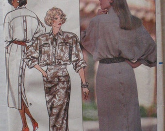 Butterick 4811 - Women's Back Buttoned Dress Sewing Pattern - Sizes 8-10-12, Bust 31 1/2 - 34, Uncut