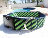"""Dog Collars 1"""" width Quick Release buckle style My Tie - No martingales"""
